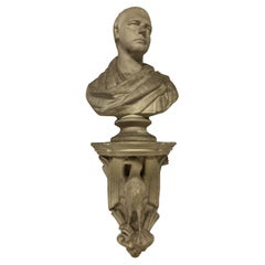 Classical Plaster Library Bust on Bracket