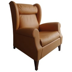 Poltrona Frau Archibald Gran Comfort Chair and Ottoman at 1stdibs