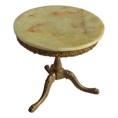 Classical Revival French Onyx Side Table