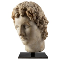 Classical Roman, 1st-2nd Century AD, Alexander the Great White Marble Bust