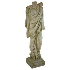 Classical Roman Female Patrician Sculpture