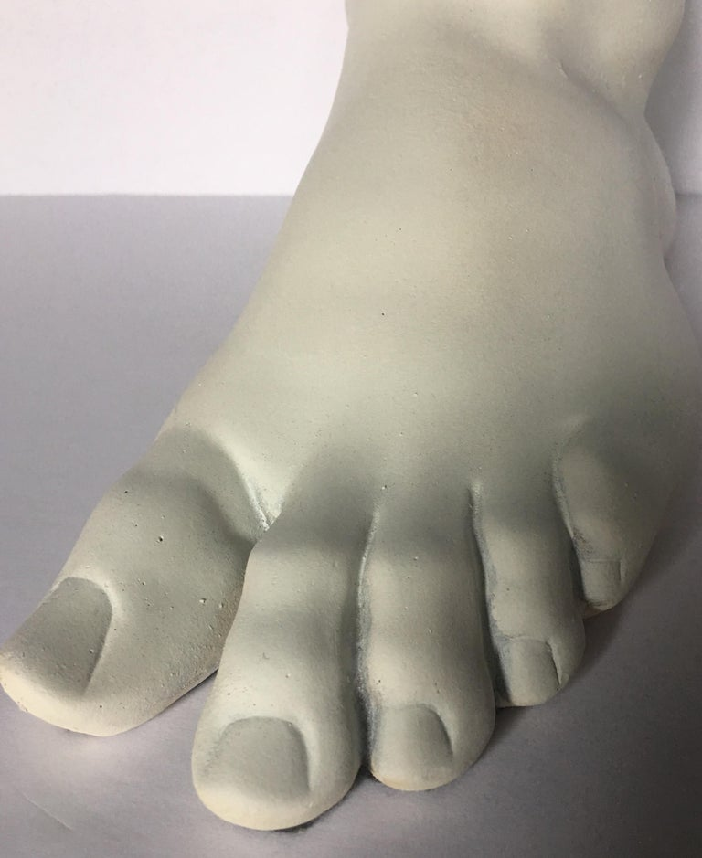 Classical Roman Style Plaster Foot Fragment Sculpture For Sale 3