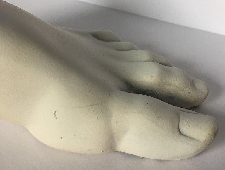 Classical Roman Style Plaster Foot Fragment Sculpture For Sale 4