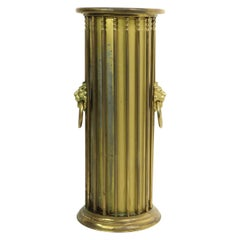 Classical Style Brass Umbrella Cane Stand with Lion Heads