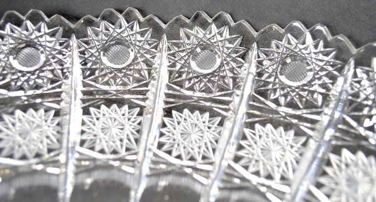 Polish Classical Style Cut Glass Tazza For Sale