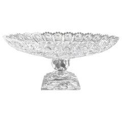 Classical Style Cut Glass Tazza
