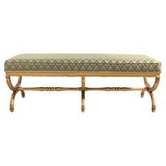 Classical Style Gilt Bench Att. to Karges