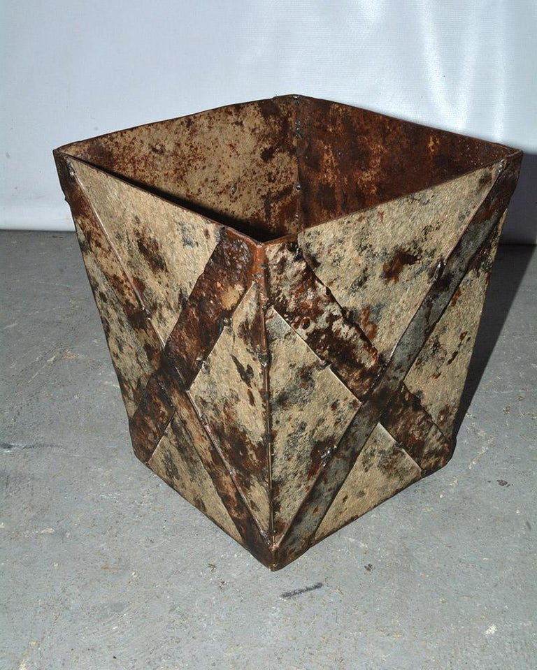 French Classical Style Painted Wastebasket or Planter For Sale