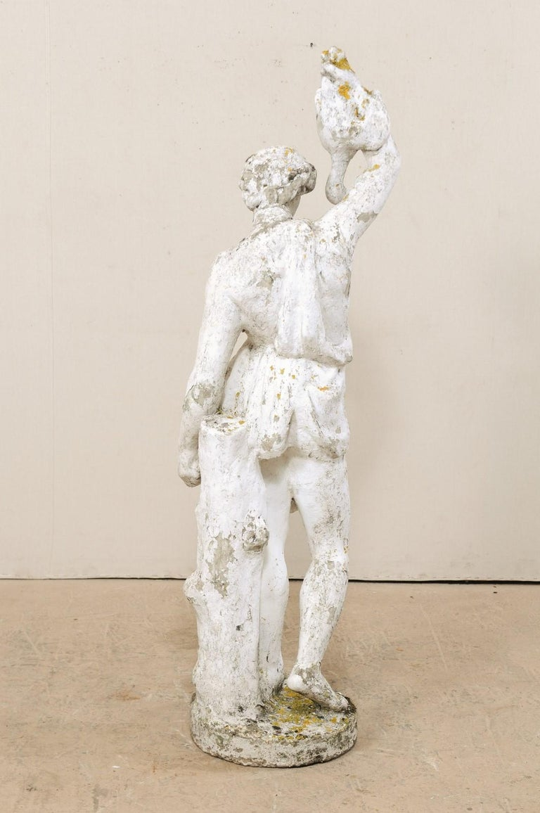 Classical Tall French Garden Sculpture of Male Figure from Early 20th Century For Sale 3