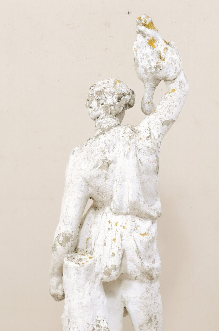 Classical Tall French Garden Sculpture of Male Figure from Early 20th Century For Sale 4