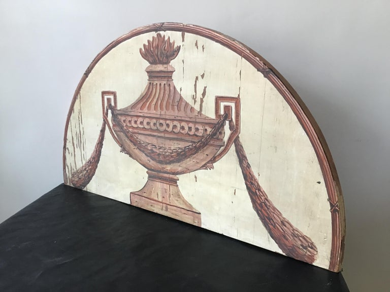 Classical Urn Painted on Wood Plaque For Sale 2