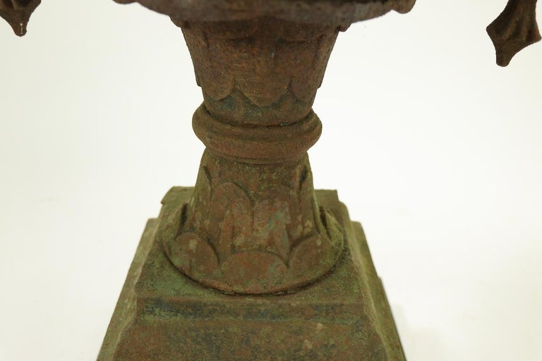 Classical Victorian Cast Iron Urn Planter Probably Fisk or Mott with Handles For Sale 6