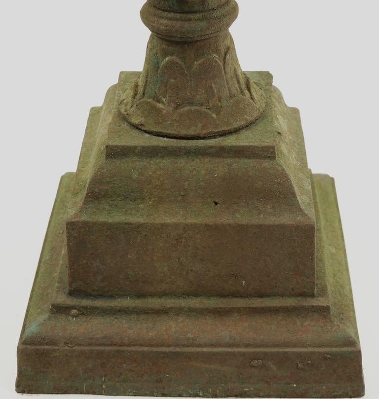 American Classical Victorian Cast Iron Urn Planter Probably Fisk or Mott with Handles For Sale