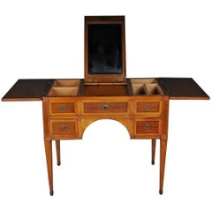 Classicism Dressing Table, Poudruese, Ladies Vanites Table, German, circa 1790