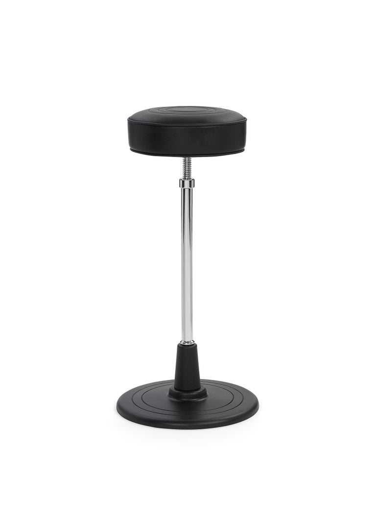 Eileen Gray designed bar stools in several variations. The Bar Stool No. 1 is the simplest and most handsome of them all. It initially found itself, along with the folding mirror Castellar, in the wash corner of her bedroom in her summer home E