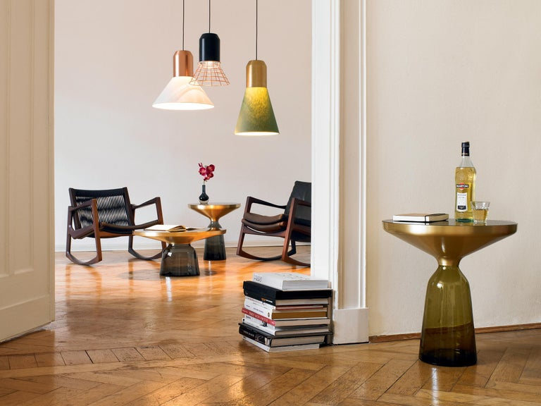 ClassiCon Bell Coffee Table in Amber Orange & Nero Marquina by Sebastian Herkner For Sale 6