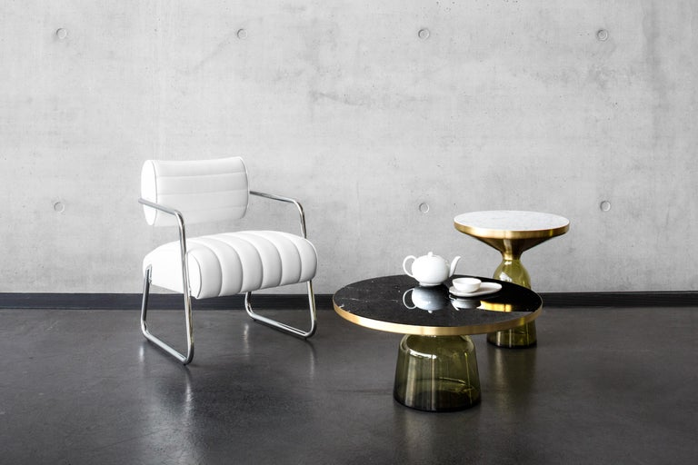 Hand-Crafted ClassiCon Bell Coffee Table in Amber Orange & Nero Marquina by Sebastian Herkner For Sale