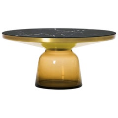 ClassiCon Bell Coffee Table in Amber Orange & Nero Marquina by Sebastian Herkner