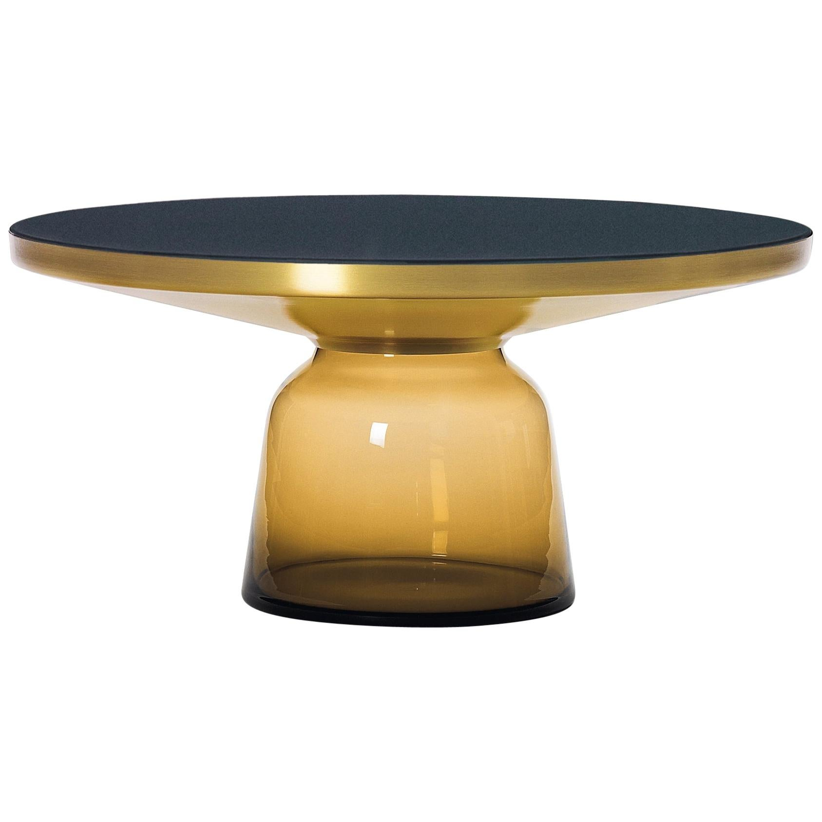 ClassiCon Bell Coffee Table in Brass and Amber Orange by Sebastian Herkner