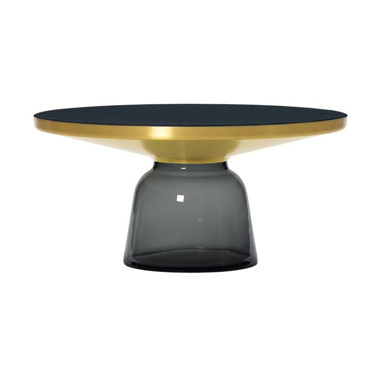 ClassiCon Bell Coffee Table in Brass and Quartz Grey by Sebastian Herkner