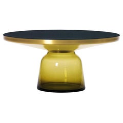 ClassiCon Bell Coffee Table in Brass and Topaz Yellow by Sebastian Herkner