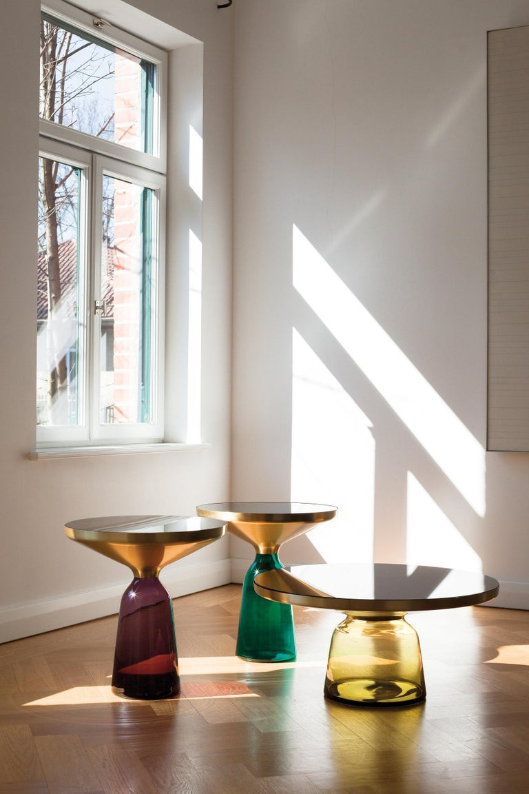 ClassiCon Bell Coffee Table in Brass and Emerald Green by Sebastian Herkner For Sale 1