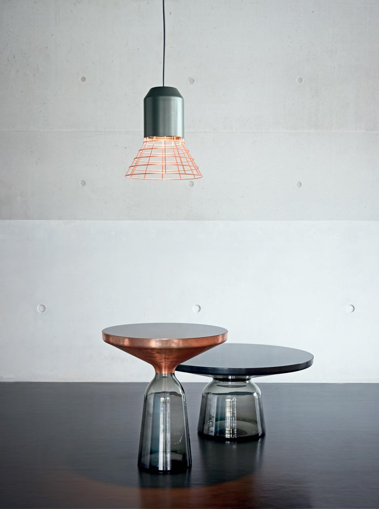 ClassiCon Bell Light Pendant Lamp in Grey Copper Cage by Sebastian Herkner In New Condition For Sale In New York, NY