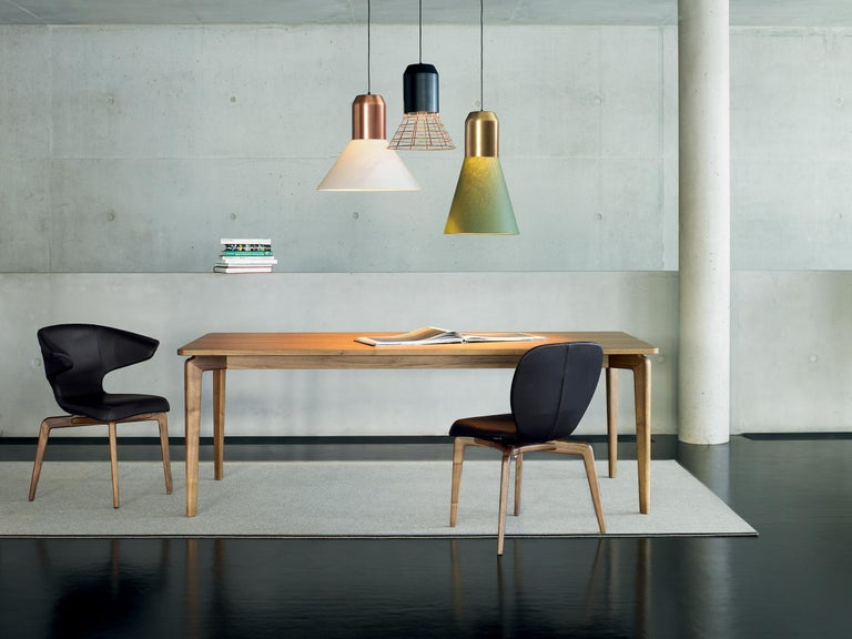 Contemporary ClassiCon Bell Light Pendant Lamp in Grey Copper Cage by Sebastian Herkner For Sale