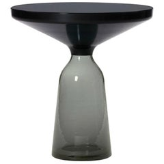 ClassiCon Bell Side Table in Black and Quartz Grey by Sebastian Herkner