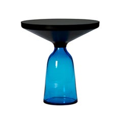 ClassiCon Bell Side Table in Black and Sapphire Blue by Sebastian Herkner