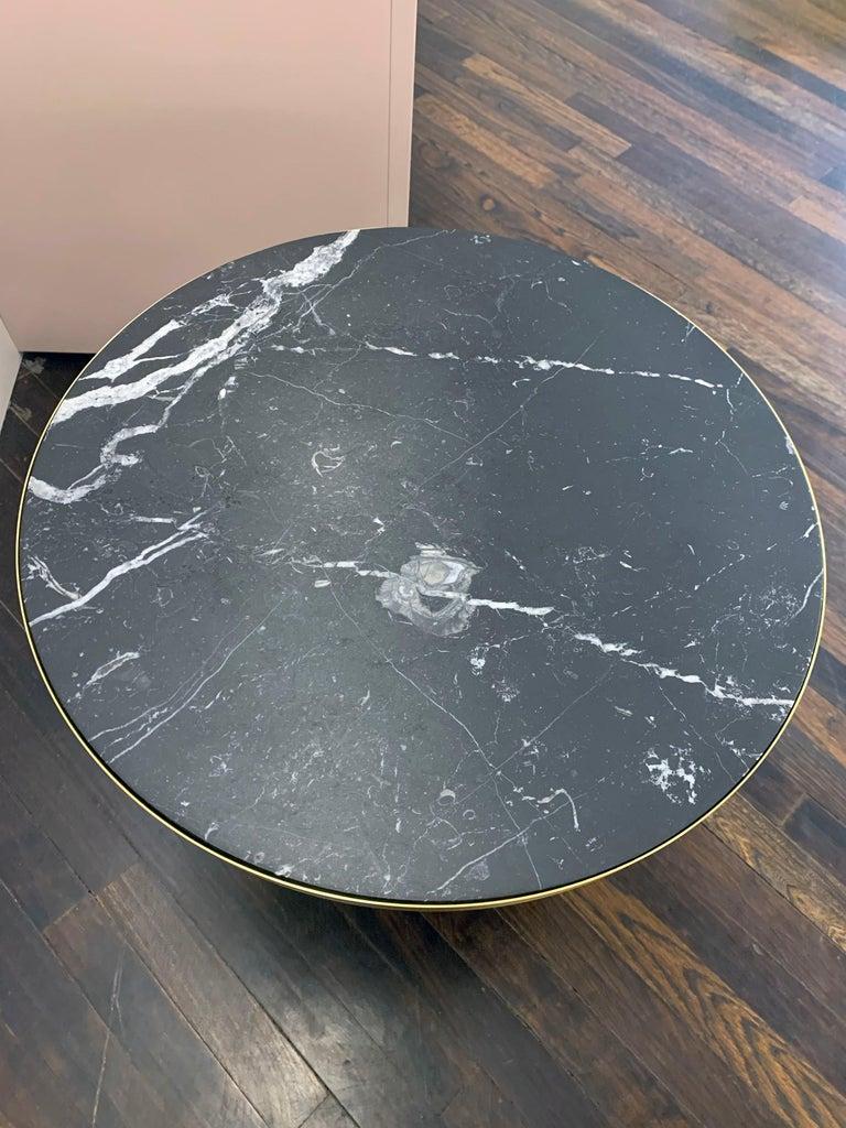 Modern ClassiCon Bell Side Table in Brass, Emerald Green & Marble by Sebastian Herkner For Sale