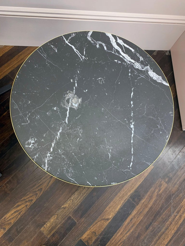 Glass ClassiCon Bell Side Table in Brass, Emerald Green & Marble by Sebastian Herkner For Sale