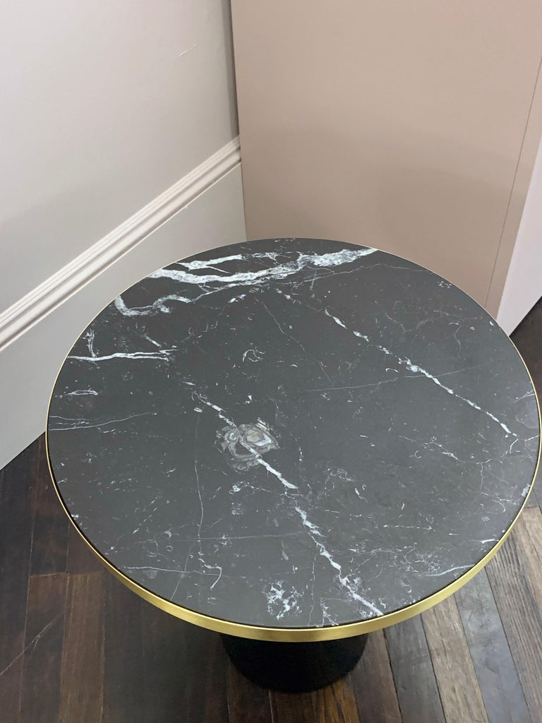 ClassiCon Bell Side Table in Brass, Emerald Green & Marble by Sebastian Herkner For Sale 1