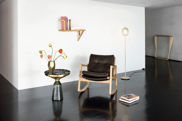 Hand-Crafted ClassiCon Bell Side Table in Copper and Quartz Grey by Sebastian Herkner For Sale