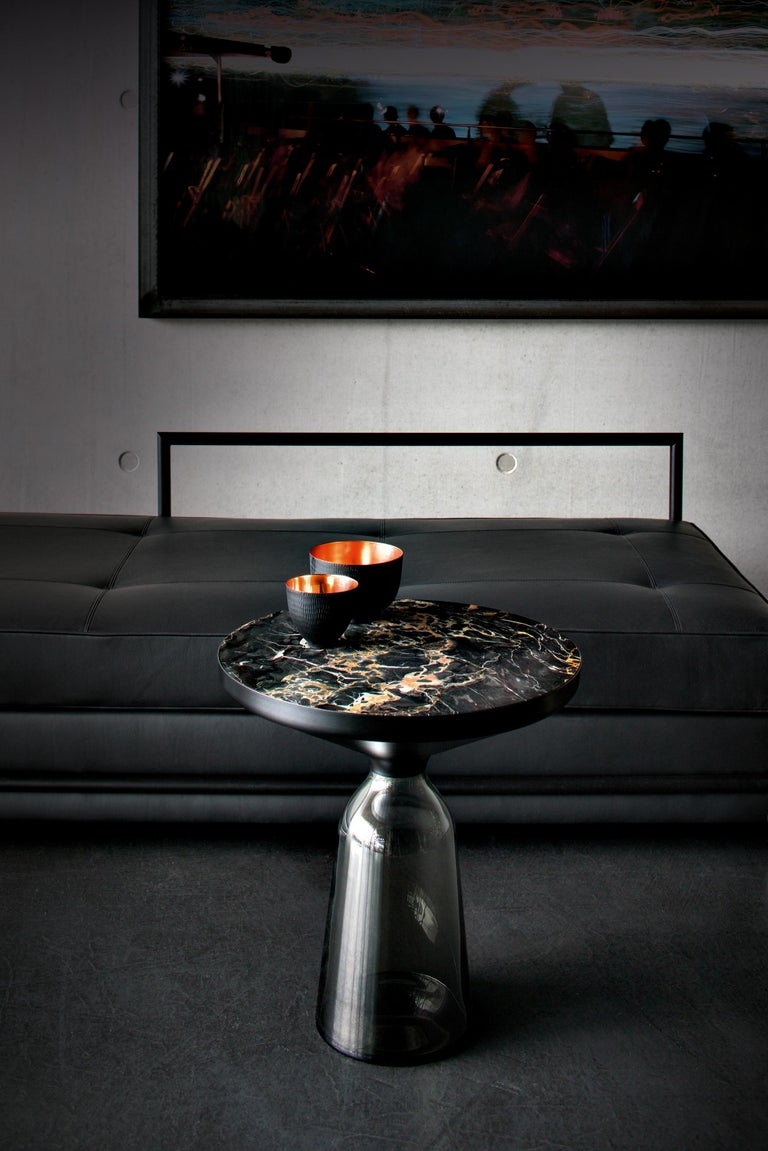 Contemporary ClassiCon Bell Side Table in Copper and Quartz Grey by Sebastian Herkner For Sale