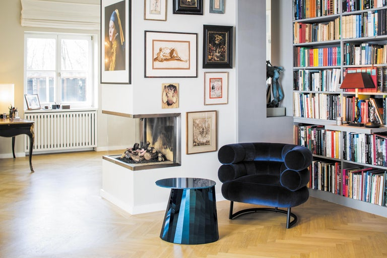 ClassiCon Bibendum Armchair in Black Leather with Chrome Frame by Eileen Gray For Sale 3