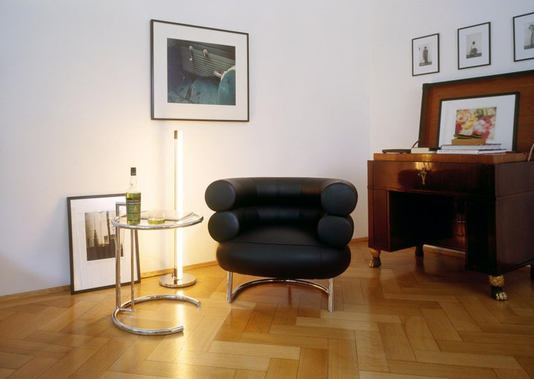 ClassiCon Bibendum Armchair in Black Leather with Chrome Frame by Eileen Gray In New Condition For Sale In New York, NY