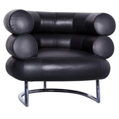 ClassiCon Bibendum Chair Designer Leather Armchair Black Genuine Leather Chair