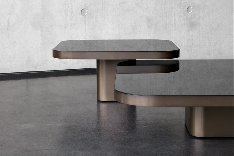 German ClassiCon Bow Coffee Table No. 3 in Nero Marquina Marble by Guilherme Torres For Sale