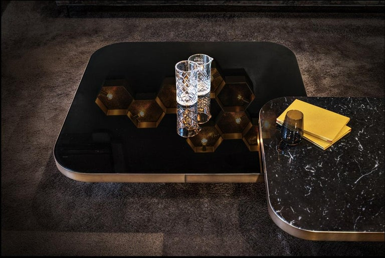 ClassiCon Bow Coffee Table No. 3 in Nero Marquina Marble by Guilherme Torres For Sale 1
