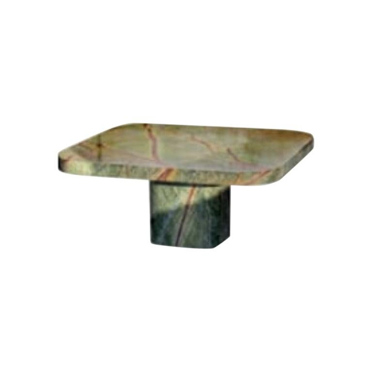 ClassiCon Bow Coffee Table No.3 by Guilherme Torres, Rainforest Green Marble For Sale