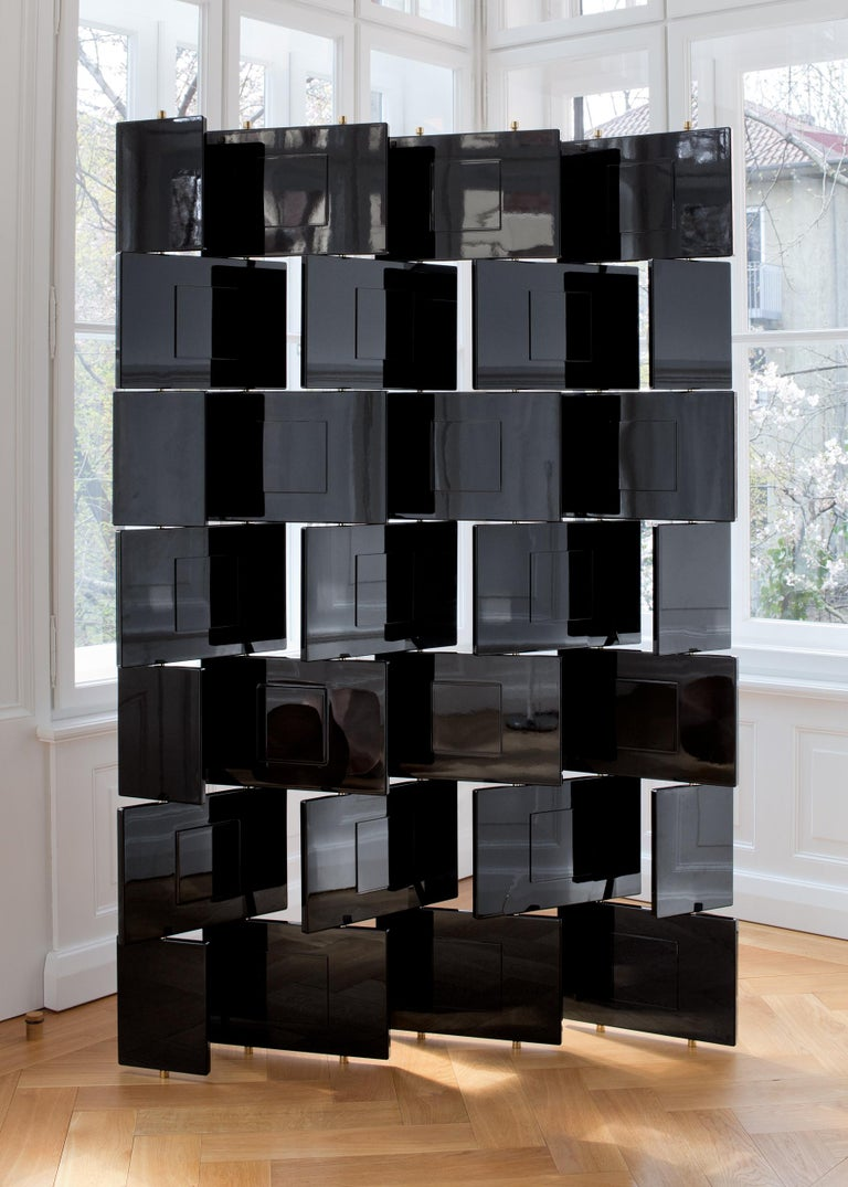 German ClassiCon Brick Screen in Black by Eileen Gray For Sale