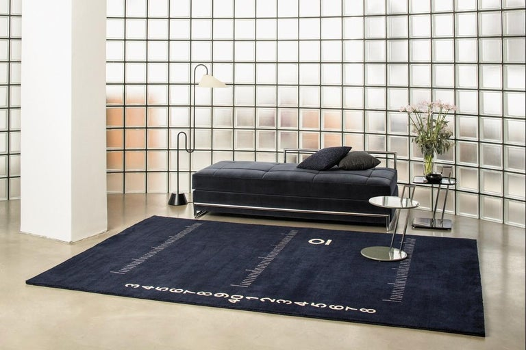 Modern ClassiCon Centimetre Rug in Hand Knotted Wool by Eileen Gray For Sale