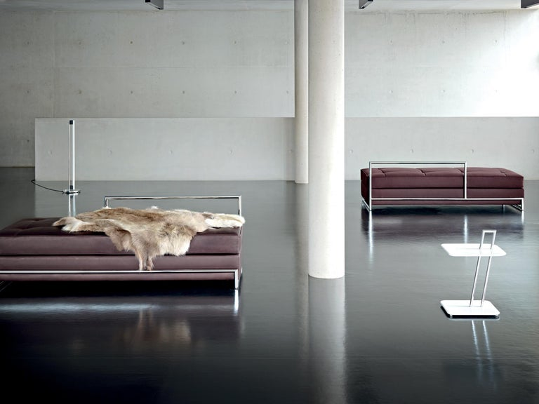German ClassiCon Daybed in Leather by Eileen Gray For Sale