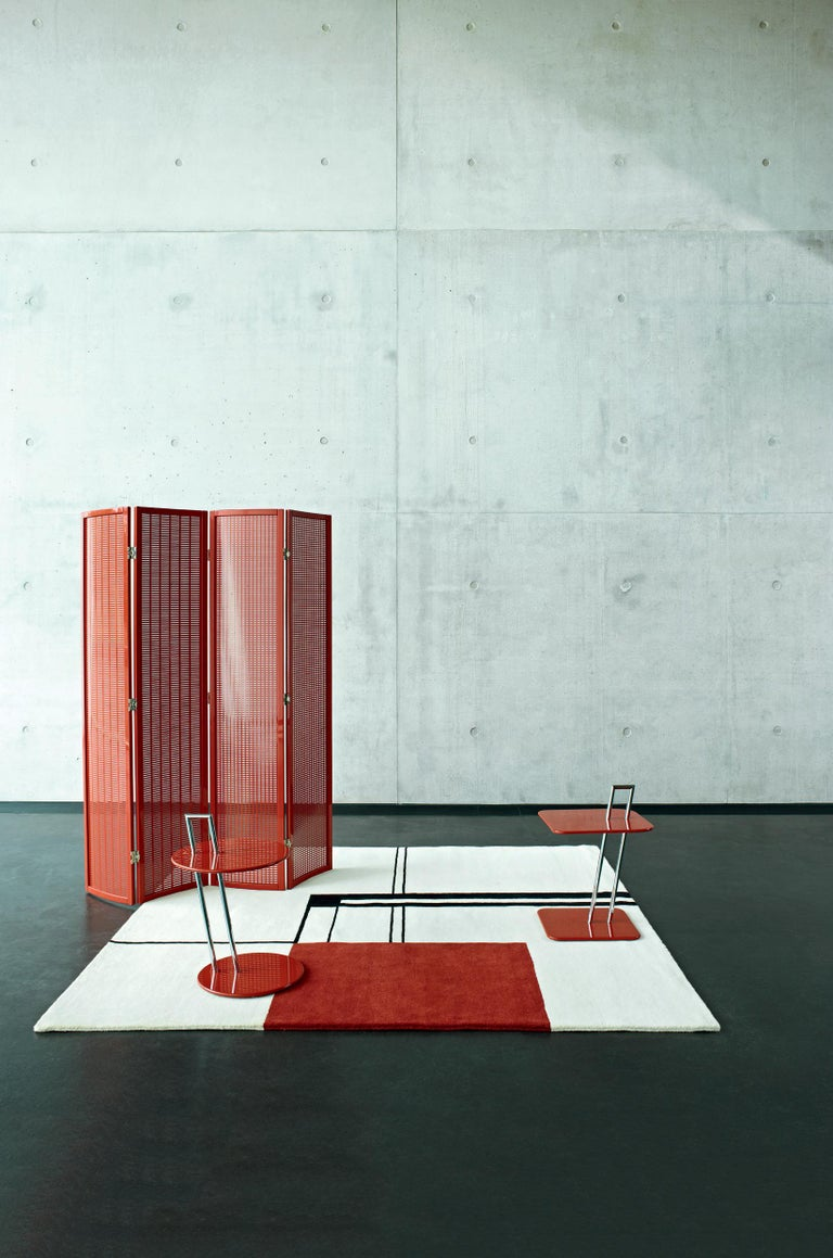 German ClassiCon Folding Screen in Red by Eileen Gray For Sale