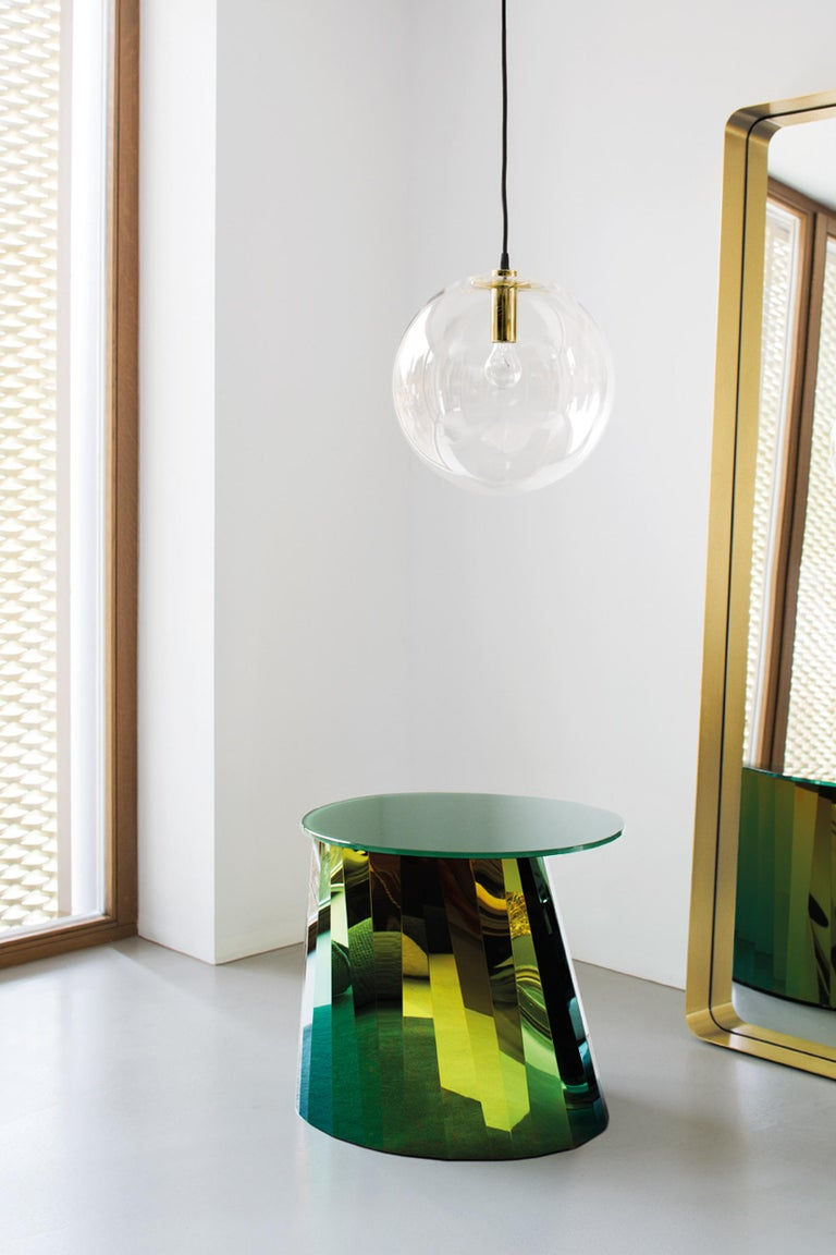 Powder-Coated ClassiCon Large Selene Pendant Lamp in Brass by Sandra Lindner For Sale