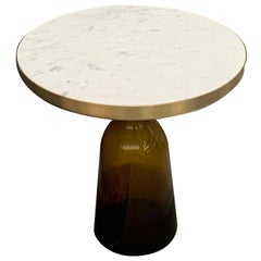 ClassiCon Marble Bell Side Table in Brass and Amber by Sebastian Herkner