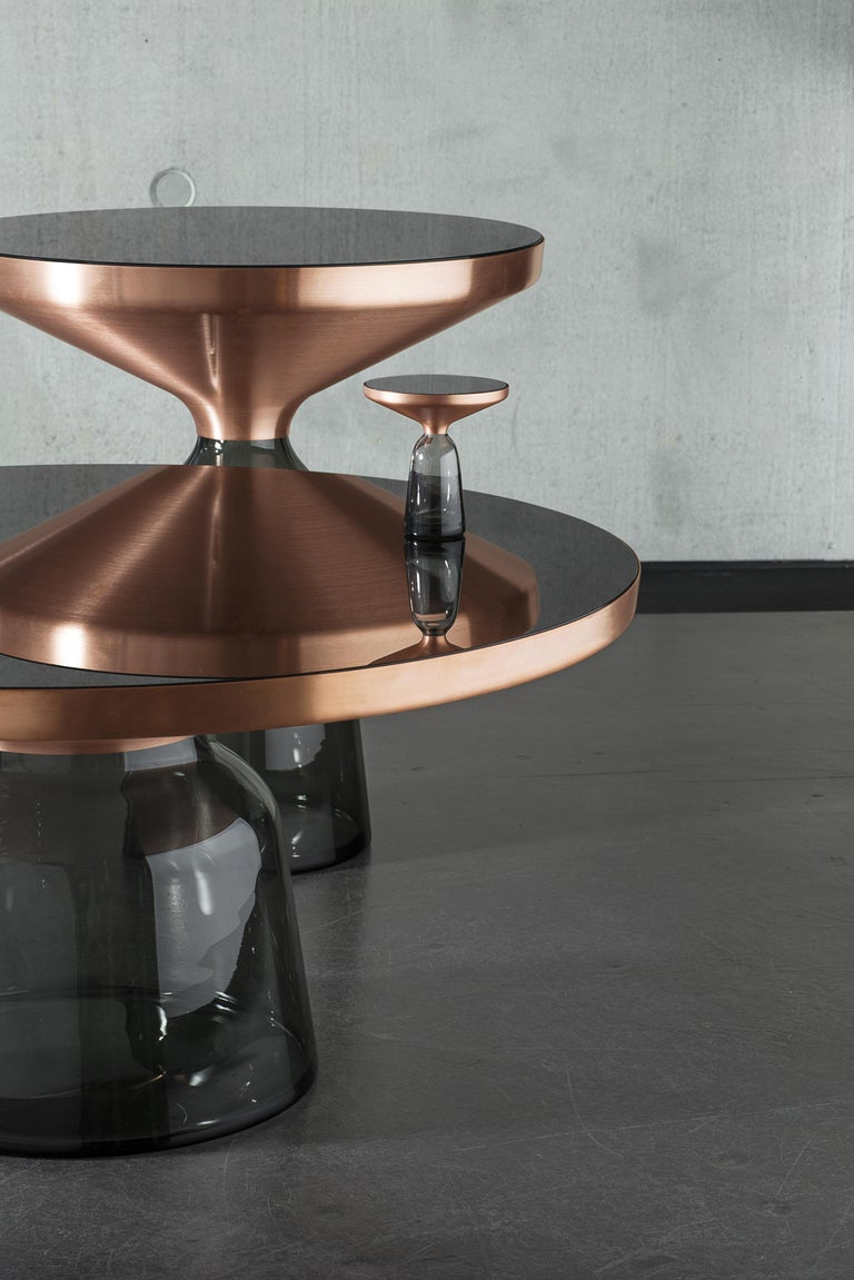 German ClassiCon Miniature Bell Side Table in Copper and Grey by Sebastian Herkner For Sale