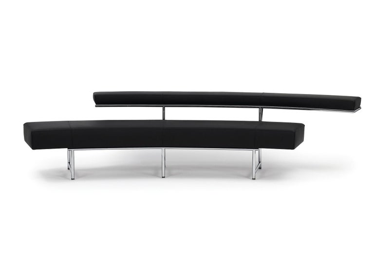 Eileen Gray's perhaps most exclusive sofa radiates an allure from which no beholder can escape. The soft curve, the most unusual lines of the backrest make the Monte Carlo an incomparable and striking one-of-a-kind in the history of 20th century