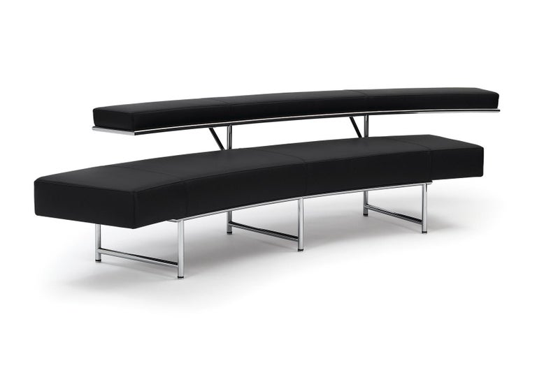 Modern ClassiCon Monte Carlo Sofa in Leather and Chrome by Eileen Gray For Sale